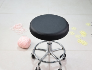 Pleasing Details About 5Pcs 14 Bar Stool Cover Round Chair Seat Cover Sleeve Pu Leather Black Dental Machost Co Dining Chair Design Ideas Machostcouk