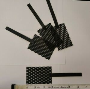"Platinum Mesh Anode /& Titanium Mesh Cathode Set 2/"" by 3/"" with stem handle"