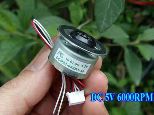 DC 3V~5V 4.2V 6000RPM Mini 300 Tray Motor Solar Experimental Motor Spindle Motor