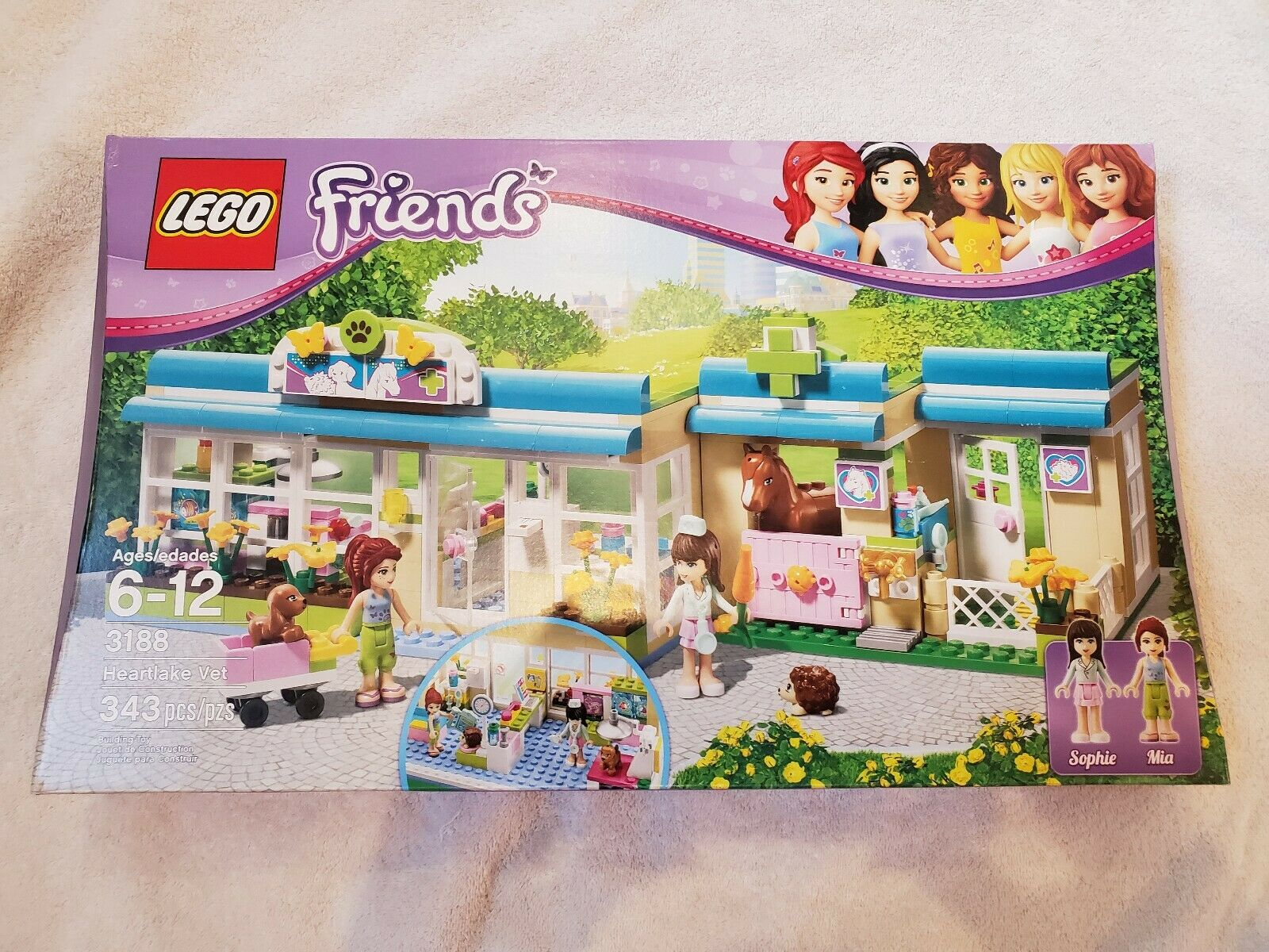 LEGO Friends Heartlake Vet 3188 NEW & Sealed great holiday gift for the kids