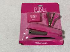 Pink Stapler Set W Stapler Stapler Remover And Staples 1000 Ct Office Depot