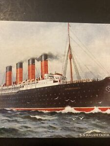 Vintage Postcard, 1907 Cunard Line S.S. Mauretania New York P74