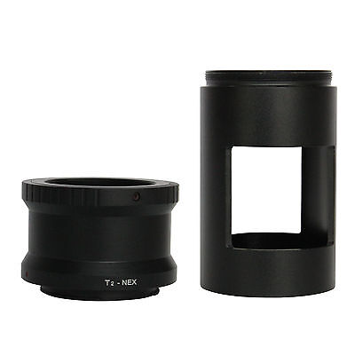 T2 Ring Adapter for Sony NEX Cameras + 42mm Spotting Scope Mount Adapter