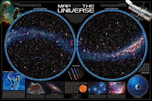 1000 Piece Jigsaw Puzzle MAP OF THE UNIVERSE - Star World - (50 x 75 cm) japan