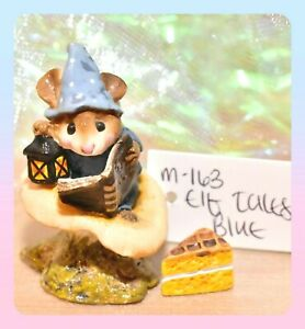 ❤️Wee Forest Folk M-163 Elf Tales Mouse Blue Book Mushroom Lantern Retired WFF❤️