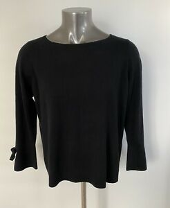 Talbots-Woman-Petites-Size-2X-Black-Bell-Sleeve-with-Tie-New-5-Cashmere