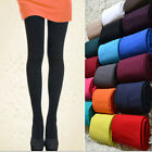 Fashion All Season Footed Thick Opaque Stockings Pantyhose Solid Color Tights