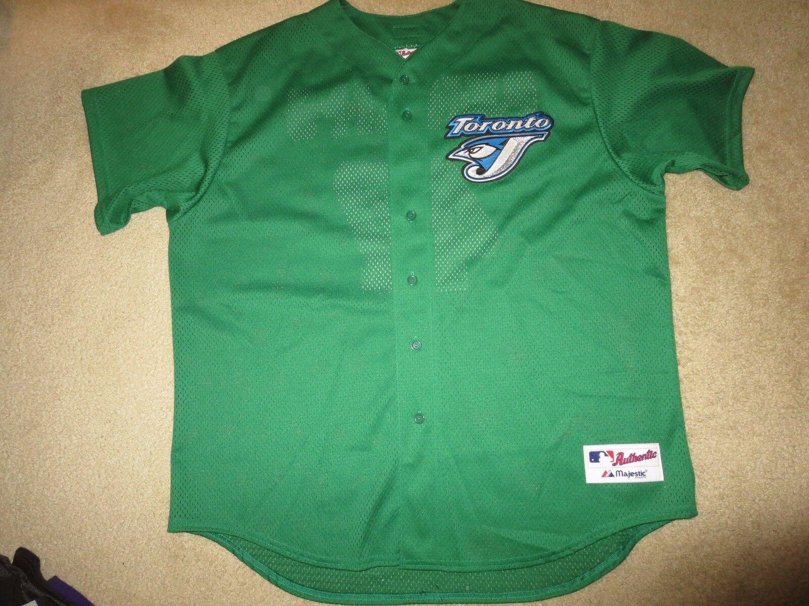 Tony Phillips  47 Toronto Blau Jays MLB Grün Irisch Majestic Trikot 2XL 2X