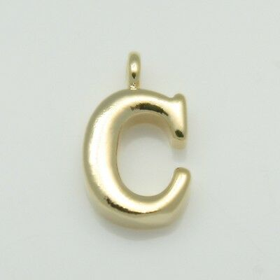 Alphabet Initial Letter Pendants Jewelry Making connectors Bails 16K Gold Plated