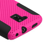 Sprint Boost Force N9100 MESH Hybrid Silicone Rubber Skin Case Phone Cover Pink