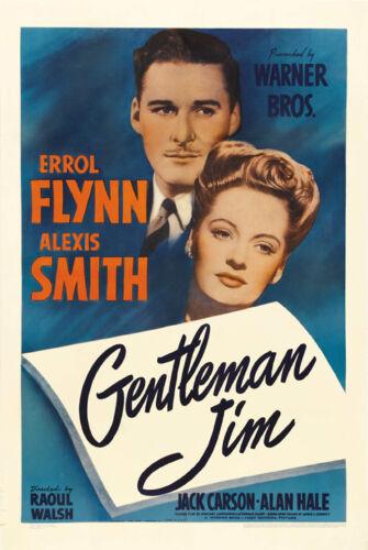 Gentleman Jim Errol Flynn Alexis Smith movie poster print