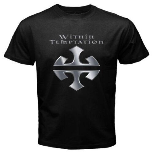 New Within Temptation Metal Rock Band Men/'s Black T-Shirt Size S-3XL 100/% cotton