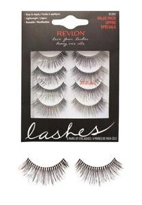b0b5b5dbf2c 4 pairs revlon false eyelashes eyelash eye lash lashes 91291 long black