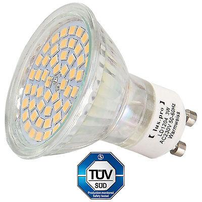 10x [lux.pro]® SMD SPOT GU10 230V WARMWEIß 54 SMD TÜV LEUCHTMITTEL LED LAMPE