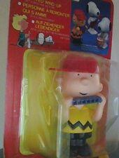 Vintage Peanuts Snoopy Charlie Brown Aviva Wind Up Walker Original Box Rare