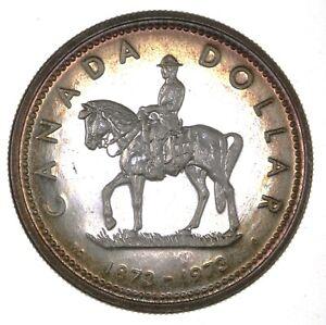 1973 Canada Mounted Police Proof Like Silver Dollar $1 Centennial Coin