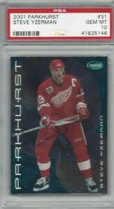 2001-Parkhurst-hockey-card-31-Steve-Yzerman-Detroit-Red-Wings-graded-PSA-10
