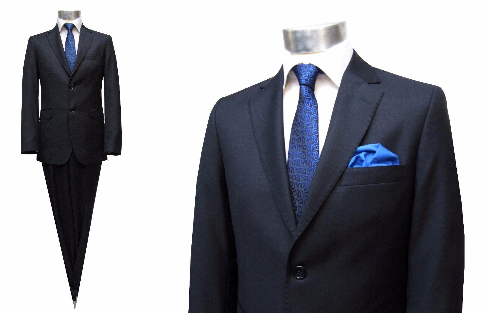 Taillierte Herren Anzug Gr.56 navy blau