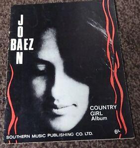 2019 DernièRe Conception Joan Baez-country Girl Album-music Book 1966-vintage-afficher Le Titre D'origine Toujours Acheter Bien