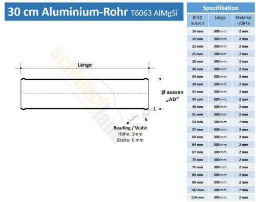 Alu-tubo 30cm ad 38mm rojo *** alurohr tubo aluminio conector de manguera turbo llk