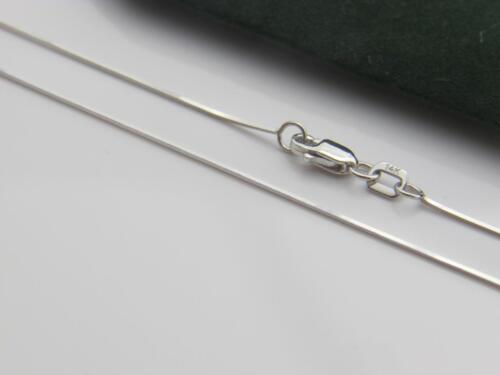 Solid 14K White Gold 1mm Square Snake Chain Necklace all lengths real gold