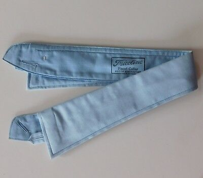 Radiac blue Kingswear collar semi-stiff size 14.5 1920s 1930s Tricoline UNUSED