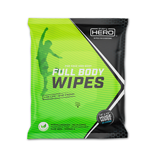 SALE everyHERO: Body Cleansing Wipes, 20ct, Unscented, Biodegradable, Really Big