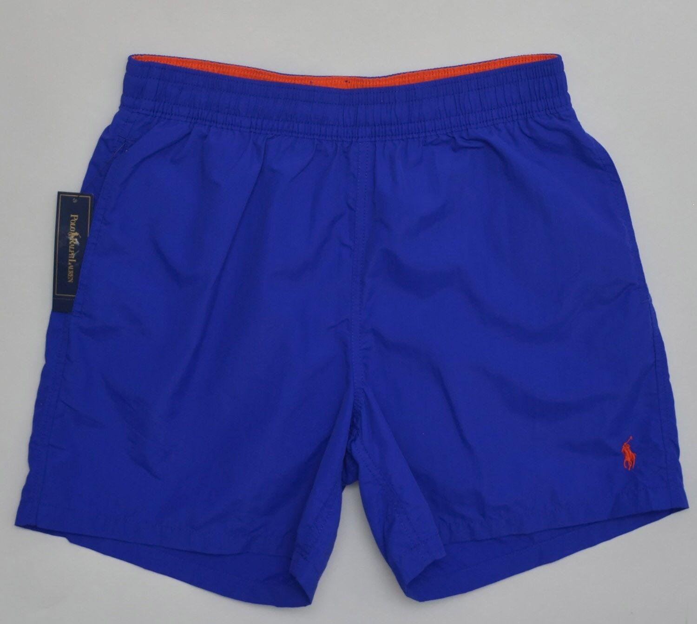 Men's POLO RALPH LAUREN Royal bluee Swimsuit Trunks Large L NWT NEW 4154802