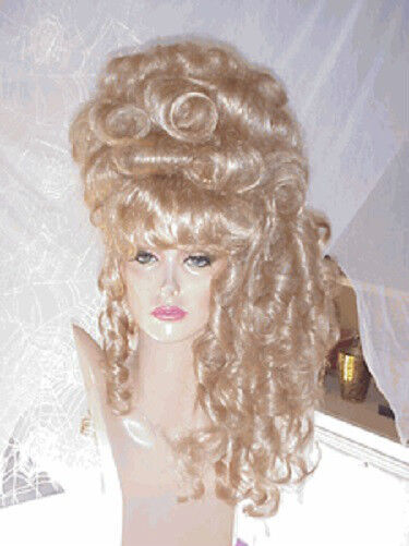SIN CITY WIGS BLONDE ROCOCO BIG UPDO VICTORIAN CURLS BANGS MARIE ANTOINETTE GLAM