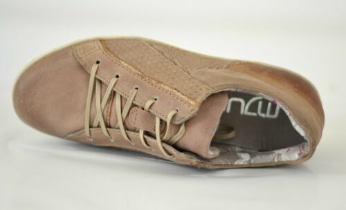 Mjus AS Damen Sneaker Schnürschuhe Schuhe rose Leder metallic NEU REDUZIERT SALE