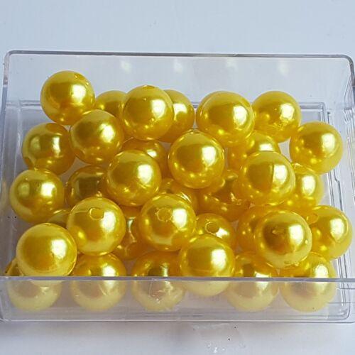 Perlen Hochzeit Wachsperlen 14mm Farbauswahl Perlen zum Auffädeln