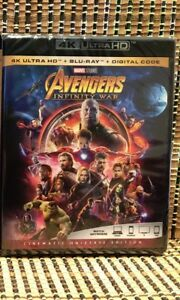 Avengers 3: Infinity War 4K (2-Disc Blu-ray,2018)Marvel/Iron Man/Thor/Hulk