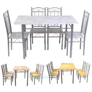 modern dining room table and chairs set kitchen 4 seater