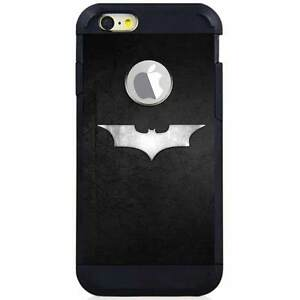 hot sale online fdbaf f62c1 Details about Iphone 6S/6S Plus/7/7 Plus Hybrid Case Cover Batman Steel Logo