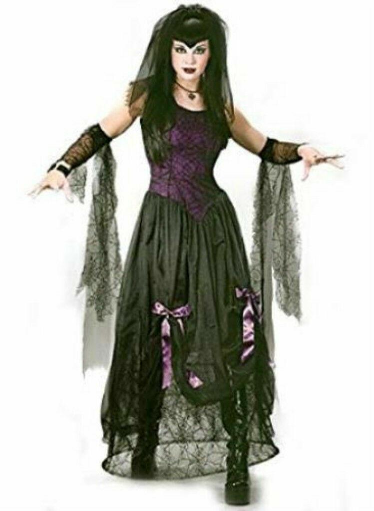 Goth Black Widow Spider Princess Adult Costume S/M fw5102