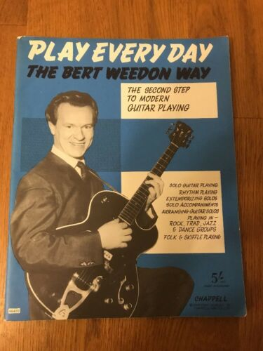 'Play Every Day the Bert Weedon Way' Guitar Playing Guide Vintage 1960s Music