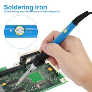 Kit-Fer-a-Souder-Dessouder-soudure-Soudage-Etain-Electronique-Ajustable-220V-EU