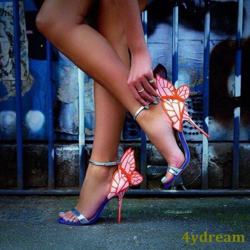 Felice shopping Occient donna Stiletto Heel Heel Heel Multi Sandals Butterfly Buckle Party Vogue scarpe  alta qualità e spedizione veloce
