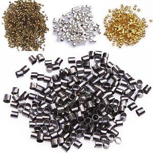 500-1000pcs-Silver-Gold-Black-Bronze-Tube-Crimp-End-Beads-Jewelry-DIY-1-5-2mm