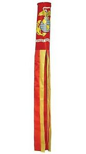 60-034-USMC-Marine-Corps-Wind-Sock-Windsock-Red-and-Yellow