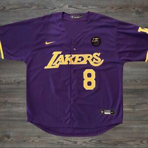 Details about Kobe Bryant Black Mamba Jersey MLB Style Purple Lakers 8 24 KB Patch Size XL