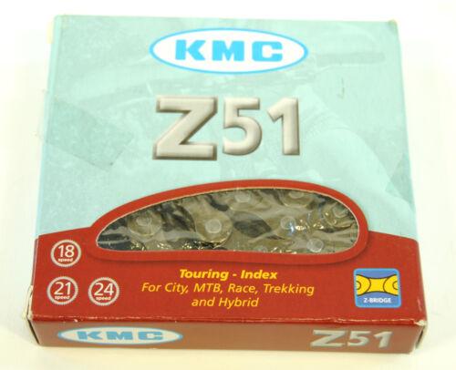 7 KMC Z51 6 8 Speed Bicycle Chain 1//2 x 3//32 116 Link Black MTB Road Bike
