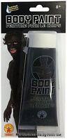 Black Body Paint Makeup Sports Events Team Spirit Halloween Costume