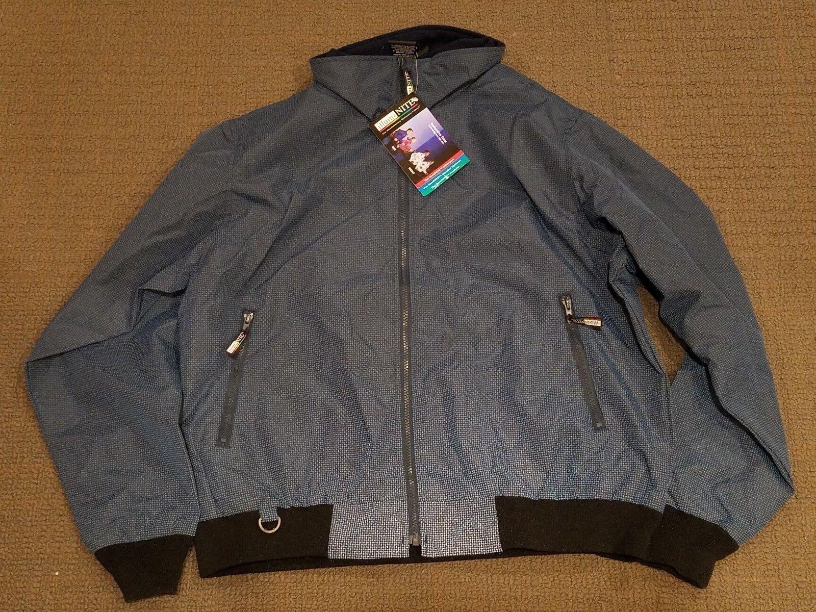 Ambu Illuminite Mens Fully Reflective Full Zip Lightweight Jacket Coat Blue