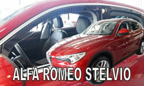 4 Deflettori Aria Antiturbo Alfa Romeo STELVIO 2017 in poi 5 porte