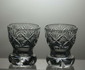 Lead-Crystal-Cut-Glass-Posy-Bud-Vases-set-of-2