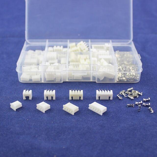 40Pcs 2.54mm JST XH Stecker Terminal Header Sortiment 2 3 4 5 PIN männlich weiblich