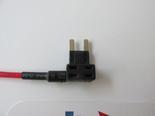 10 X Piggy Back Fusible añadir un circuito Hoja Mini Portafusibles