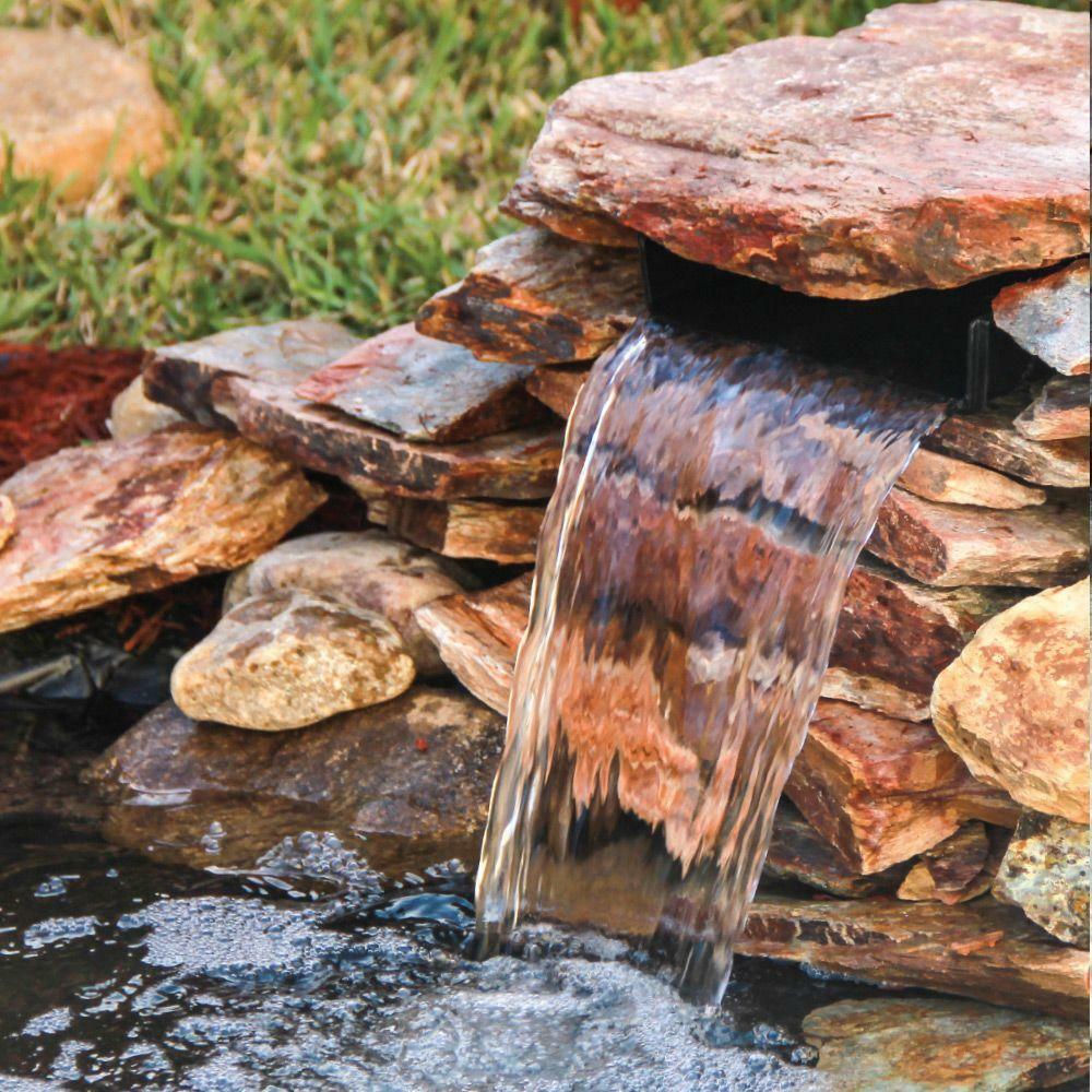 Pond 8 in. Spillway Waterfall Cascade Plastic Water Basin Outdoor Garden Yard