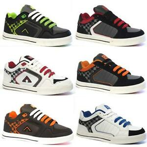 MENS-SKATE-SHOES-BOYS-BASEBALL-CASUAL-LACE-UP-FASHION-SKATER-TRAINERS-SIZE-DD06
